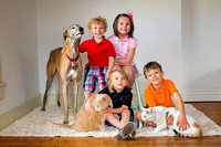 Lippman family and pets